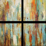 Modern Square Four piece art at mh2g.com -