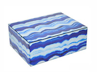Blue Decorative Tall Box Modern Accessory