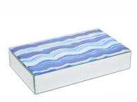 Blue Decorative rectangular Box Modern Accessory