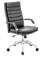 Director Comfort Modern Office Chair in black leatherette available at mh2g