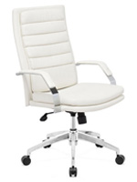 Director Comfort Modern Office Chair in white leatherette available at mh2g