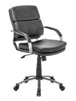 Director Relax Modern Office chair in black leatherette available at mh2g
