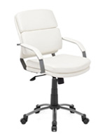 Director Relax Modern Office chair in white leatherette available at mh2g