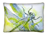 Dragonfly Modern Outdoor Patio Pillow