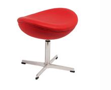 Modern Egg Modern ottoman in white leatherette - Modern Furniture