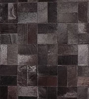 Formosa Modern Cowhide Rug Black Small