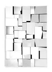 Fractal Rectangular Modern Mirror