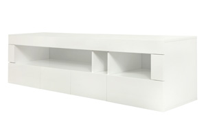 Galatro Modern TV Unit in white