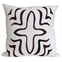 Irene Cow Hide Modern Pillow