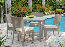lapillo modern outdoor patio dining set grey