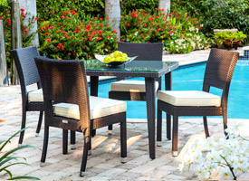 lapillo modern outdoor patio dining set espresso