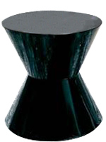 Larino black side table in lacquer