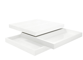 Modern Laroma Coffee table in white lacquer