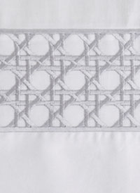 Lattice Modern Bedding Taupe with Graphite