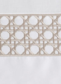 Lattice Modern Bedding Taupe with White
