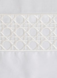 Lattice Modern Bedding in White