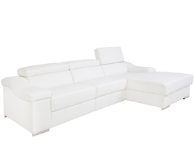laurette modern sofa sectional In white leather