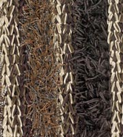 Lavasa brown Hand Made of polyester, brown. Modern rug