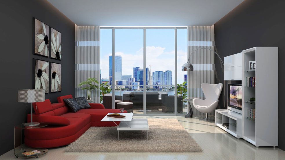 Modern urban loft living room for Living room ideas urban