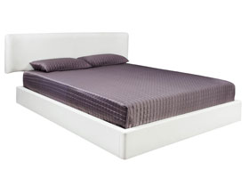 Lucca modern bed white