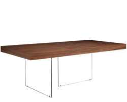 Lucca walnut dining table