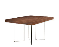 Lucca Modern Dining Table Square Walnut