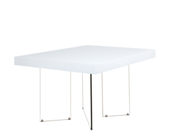 Lucca Modern Dining Table Square White