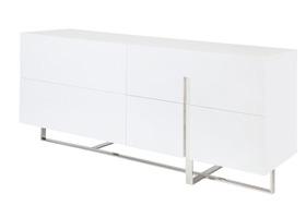 lugo modern desk dresser white