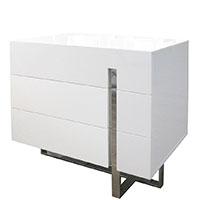 lugo modern nightstand White Three Drawers