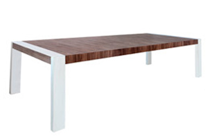lugo modern dining table walnut