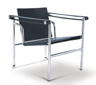 madrid modern lounge chair black leather