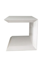 marini modern side table white