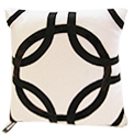 Martha Cowhide Modern Pillow