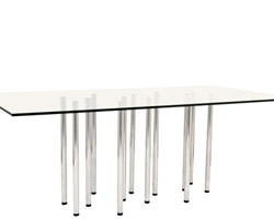 Massa Tempered Glass Top Modern Dining Table