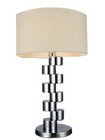 Modern table lamp. The Mazza table lamp is available with beige shade at mh2g