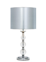 mcclain modern table lamp silver shade
