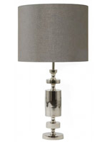 Merlin Modern Table Lamp grey Shade