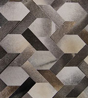 Milan Modern Cowhide Rug Medium