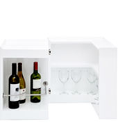 Modena White Lacquer Modern Bar Table