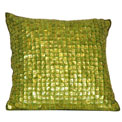 Mother of Pearl Modern Pillow Green