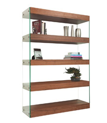 Lucca Modern Standing Wall Unit. Available in White lacquer, wengue and walnut.