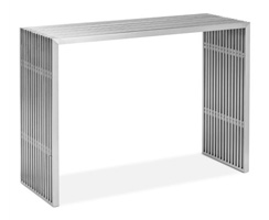Novel Stainless Steel console table available at mh2g