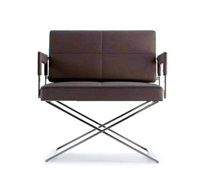 piazza modern lounge chair and ottoman in brown