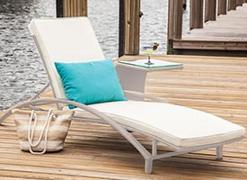 plati modern outdoor patio chaise lounger Grey