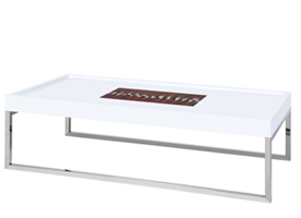 portofino modern coffee table in white
