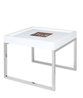 Portofino Modern Side Table White Lacquer