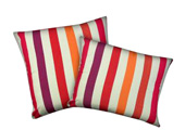 Purple and orange Stripes Modern Outdoor Patio Pillow