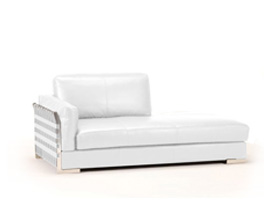 rapalo white leather loveseat
