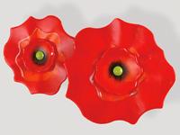 Poppy Red Wall Mount Modern Accessory