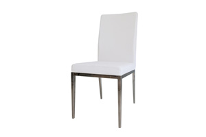 Rivola Dining Chair white leatherette - FINAL SALE - NO RETURNS